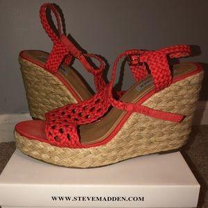 Steve Madden Coral Woven Wedge Heels